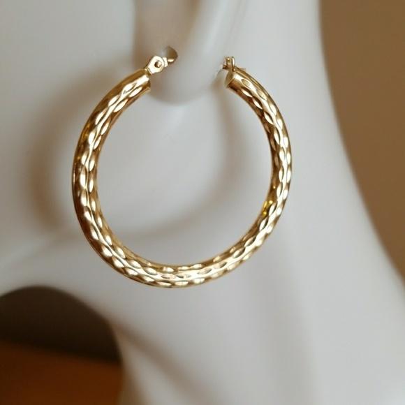 Jewelry 14 Karat Gold Hoop Earrings Poshmark